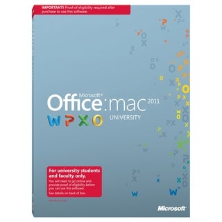Microsoft Office:mac 2011 University With Service Pack 1 32/64-bit Fo