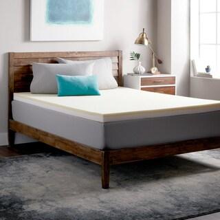 Select Luxury Restore-a-Mattress 3-inch Memory Foam Mattress Topper - Off White
