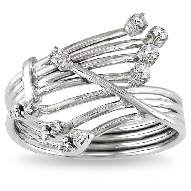 Miadora 14k White Gold Size 6 Diamond Ring (G-H, SI2)