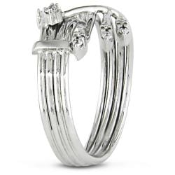 Miadora 14k White Gold 1/6ct TDW Diamond Ring (G-H, SI2)