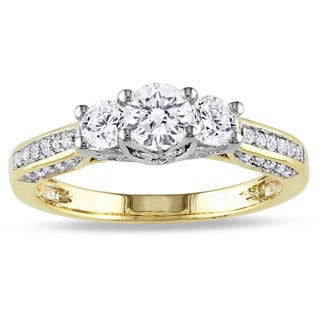 Miadora 14k Two-tone Gold 1ct TDW Diamond 3-stone Ring (G-H, I2-I3)
