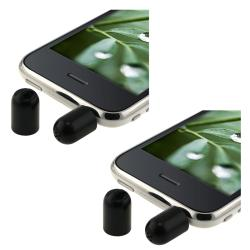 Black Mini Microphone Recorder for Apple iPad/ iPhone/ iPod (Pack of 2)