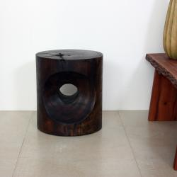 Peephole Mocha End Table (Thailand)
