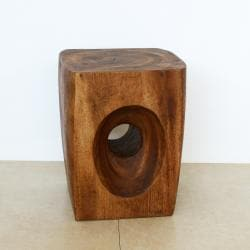 Tapered Peephole Chestnut Oil Stand (Thailand)