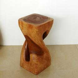 Light Teak Oil Single Twist Stool (Thailand)