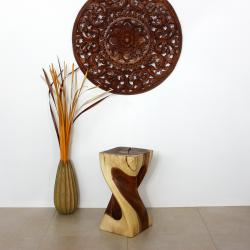 Single Twist Vine Hand-crafted Wood Stool (Thailand)
