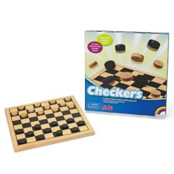 Wooden Checkers Game Set