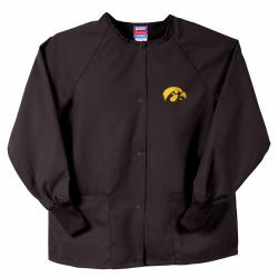 Gelscrubs Unisex NCAA Black Iowa Hawkeyes Nurse Jacket