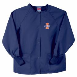 Gelscrubs Unisex NCAA Navy Illinois Illini Nurse Jacket