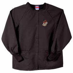 Gelscrubs Unisex Black Georgia Bulldogs Team Nurse Jacket