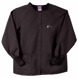Gelscrubs Unisex Black Georgia Bulldogs Nurse Jacket