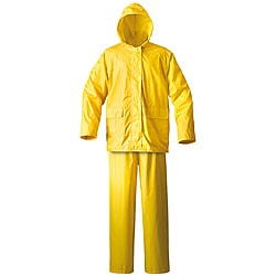 Mossi Simplex Yellow Waterproof PVC Cinch-down Hood Rain Suit