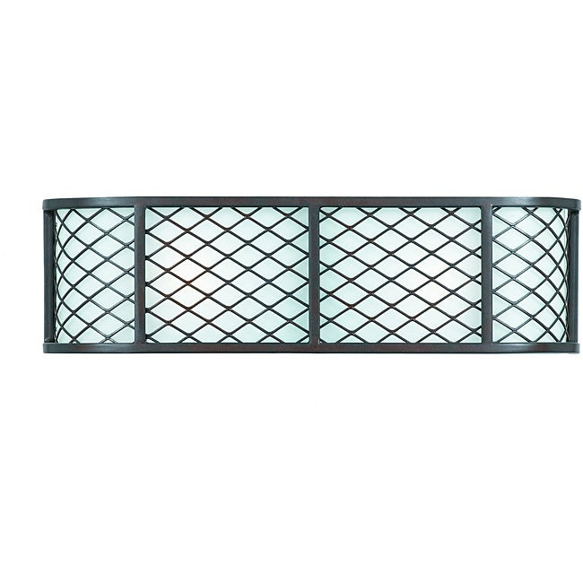 Triarch International Chainlink Bronze 2-light Bathroom Fixture