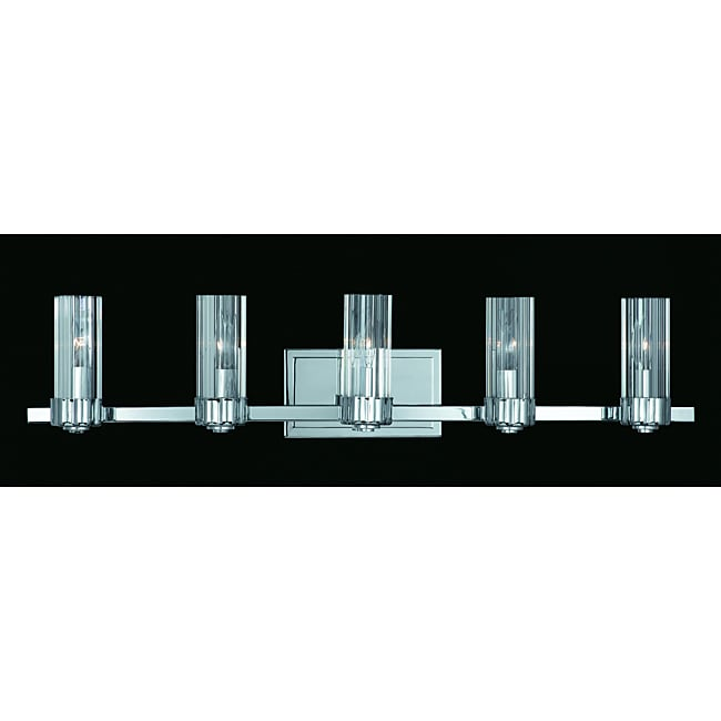Triarch International Glacier Chrome 5-light Bathroom Fixture