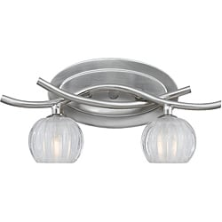 Triarch International Cosmo Satin Nickel 2-light Bathroom Fixture