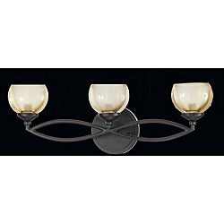 Triarch International Retro 3-light Bronze Bath Light