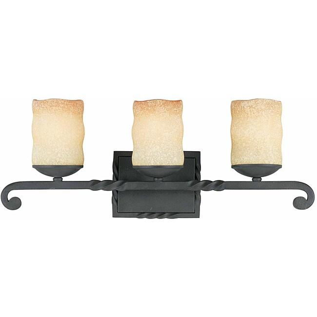 Triarch International Granada Blacksmith Bronze 3-light Bathroom Fixture