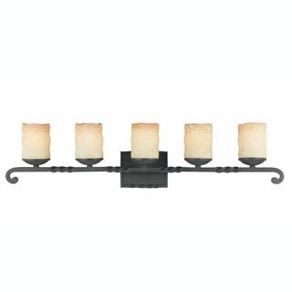 Triarch International Granada Blacksmith Bronze 5-light Bathroom Fixture