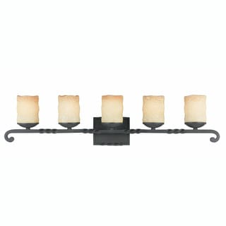 Triarch International Granada Blacksmith Bronze 5-light Bathroom Fixture