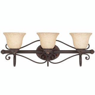 Triarch International Jewelry Harvest Bronze 3-light  Bathroom Fixture