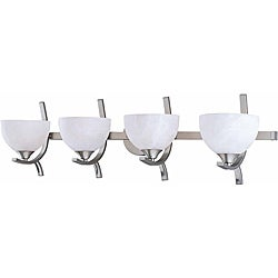 Triarch International Luxor 4-light Brushed Steel Bath Light