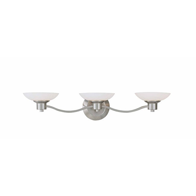 Triarch International Halogen VI Brushed Steel 3-light Fixture