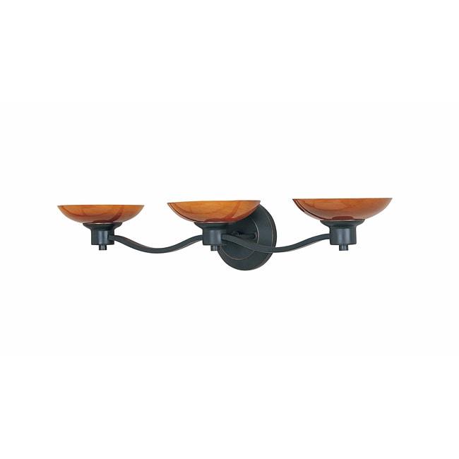 Triarch International Halogen VI Oli Rubbed Bronze3-light Fixture