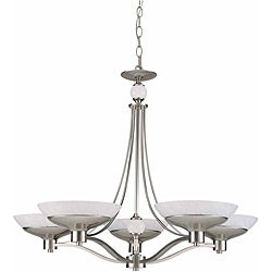 Triarch International Halogen VI 5-light Brushed Steel Chandelier