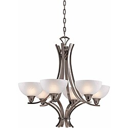 Triarch International 'Luxor' 6-light Antique Brushed Steel Chandelier