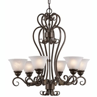 Triarch International 'Monte Carlo' 6-light Harvest Bronze Chandelier