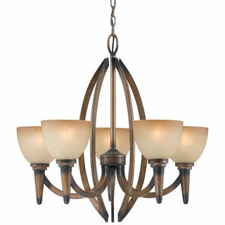Triarch International 'Olympian' 5-light Torch Bronze Chandelier