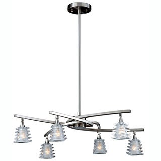 Triarch International 'Milan' 6-light Brushed Steel Chandelier
