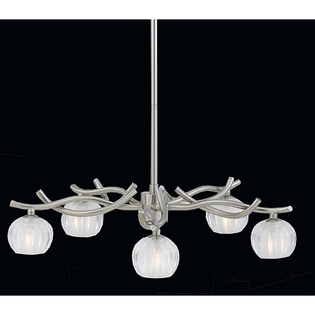 Triarch International 'Cosmo' 6-light Satin Nickel Chandelier