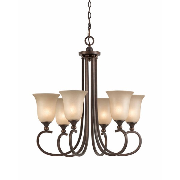 Triarch International 6-light English Bronze LaCosta Pendant Chandelier