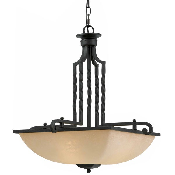 Triarch International 3-light Blacksmith Bronze LaCosta Pendant Chandelier