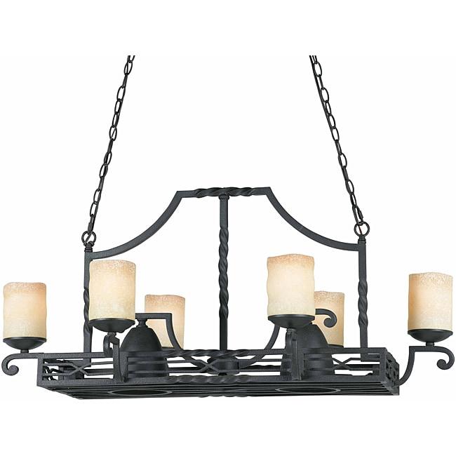 Triarch International 8-light Blacksmith Bronze Granada Pot Rack Chandelier