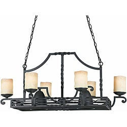 Triarch International 8-light Blacksmith Bronze Granada Pot Rack Chandelier