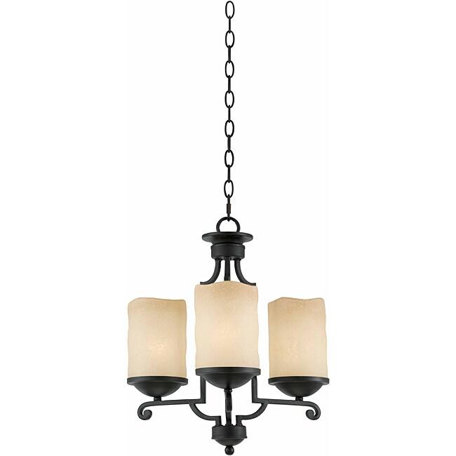 Triarch International 3-light Blacksmith Bronze Granada Chandelier