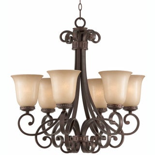 Triarch International Corsica 6-light English Bronze Pendant Chandelier