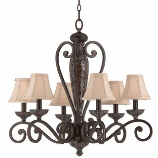 Triarch International Jewelry 6-light Harvest Bronze Pendant Chandelier