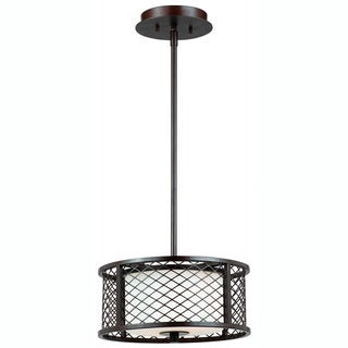 Triarch International Chainlink 2-light Bronze Pendant Chandelier