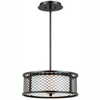 Triarch International Chainlink 3-light Bronze Pendant Chandelier