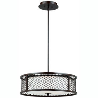 Triarch International Chainlink 4-light Bronze Pendant Chandelier