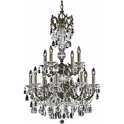 Triarch International Regal English Bronze12-light Chandelier