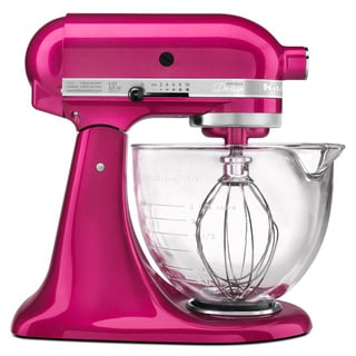 KitchenAid KSM155GBRI Raspberry Ice 5-quart Artisan Design Tilt-Head Stand Mixer **with Cash Rebate**