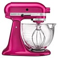 KitchenAid KSM155GBRI Raspberry Ice 5-quart Artisan Design Tilt-Head Stand Mixer *with Rebate*
