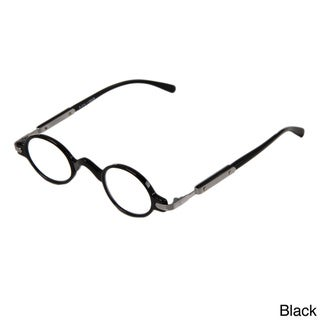 Hot Optix Unisex Retro Oval Plastic/ Metal Reading Glasses