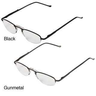 Hot Optix Men's Half-rim Metal Reading Glasses