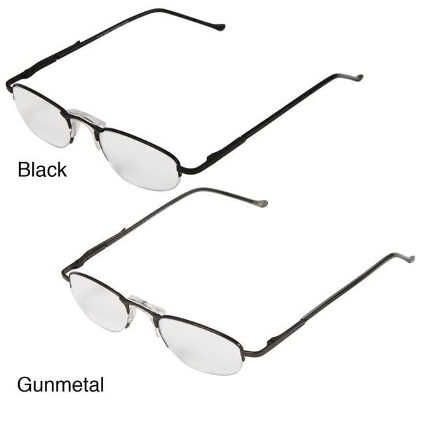Hot Optix Men's Half-rim Metal Reading Glasses