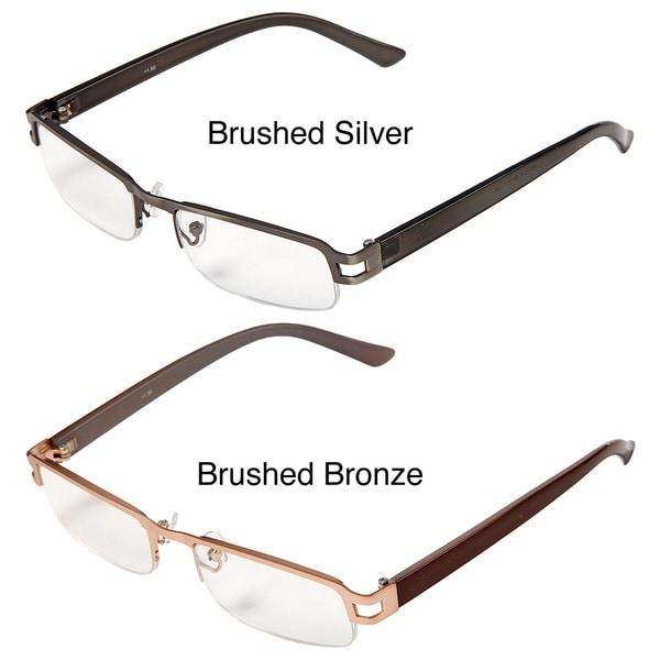 Hot Optix Men's Metal/ Plastic Reading Glasses